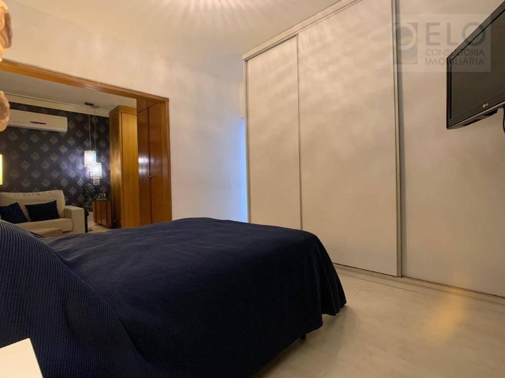 cobertura com 3 dormitórios à venda, 128 m² por r$ 535.000,00 - encruzilhada - santos/sp - co0048