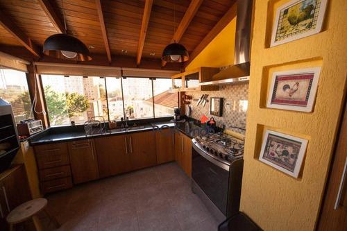 cobertura com 3 dormitórios à venda, 129 m² por r$ 645.000 - co0165