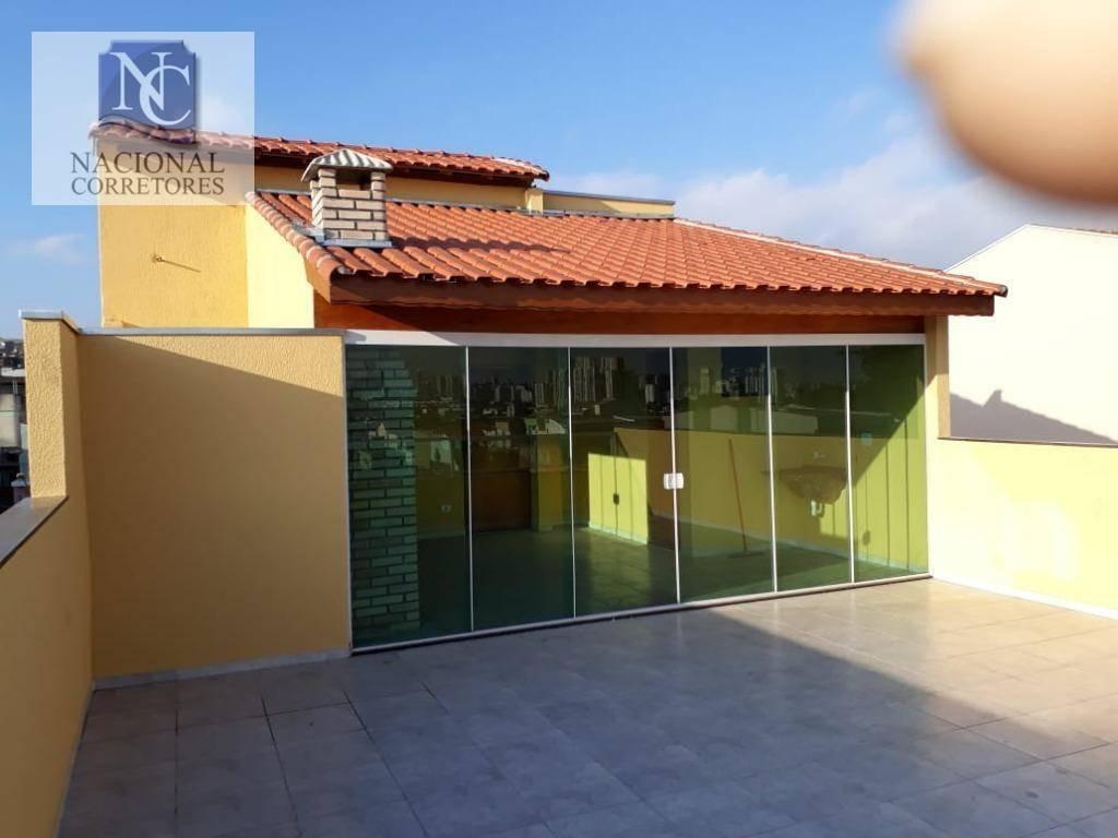 cobertura com 3 dormitórios à venda, 146 m² por r$ 415.000 - vila metalúrgica - santo andré/sp - co2576