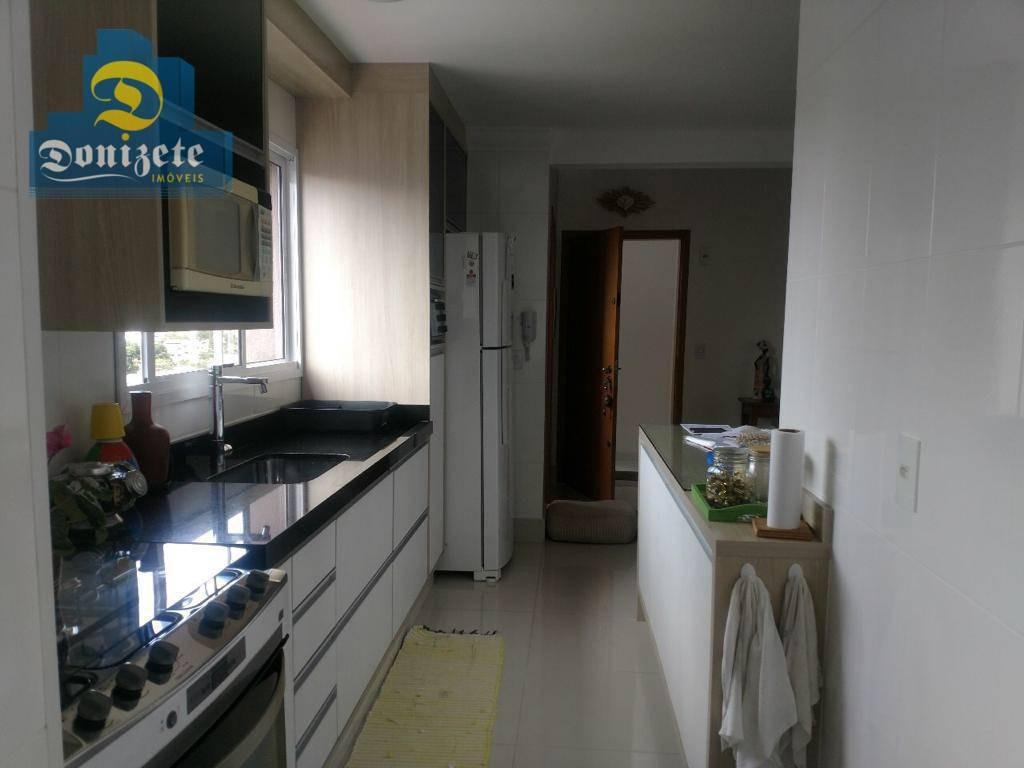 cobertura com 3 dormitórios à venda, 160 m² por r$ 819.000,10 - campestre - santo andré/sp - co1436