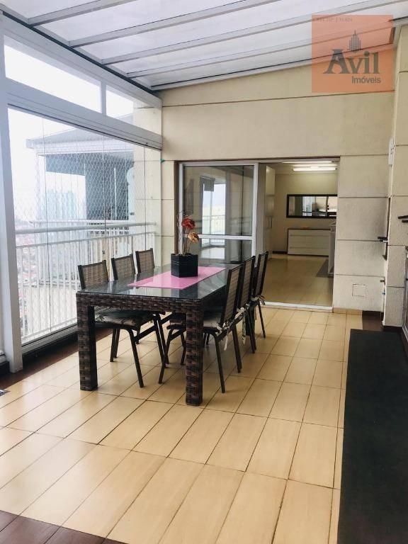 cobertura com 3 dormitórios à venda, 190 m² por r$ 1.275.000,00 - vila carrão - são paulo/sp - co0092
