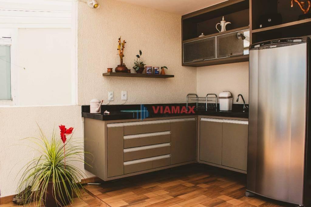 cobertura com 3 dormitórios à venda, 260 m² por r$ 1.500.000 - jardim esplanada ii - são josé dos campos/sp - co0055