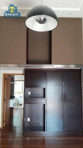 cobertura com 3 dormitórios à venda, 280 m² por r$ 1.890.000 - vila assunção - santo andré/sp - co0619
