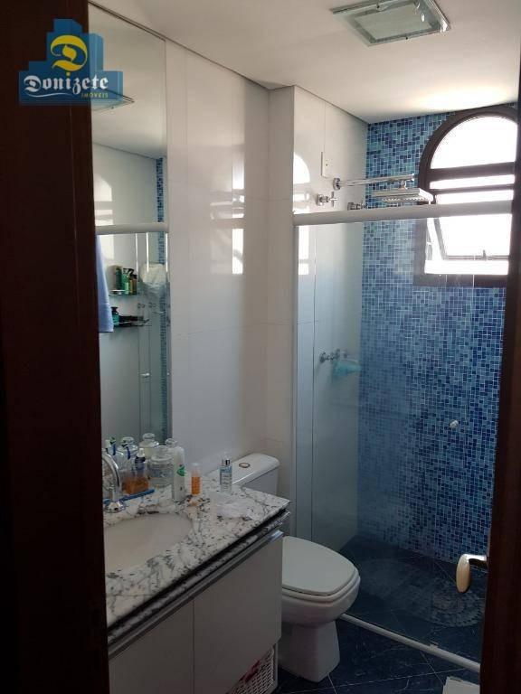 cobertura com 3 dormitórios à venda, 284 m² por r$ 1.699.000,00 - vila assunção - santo andré/sp - co1765