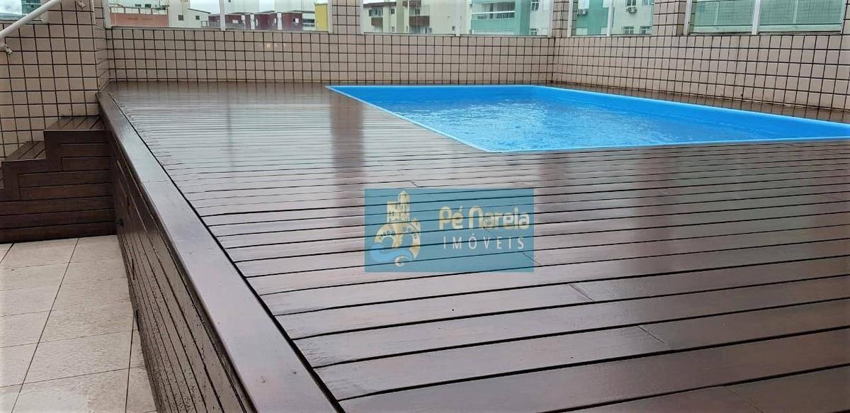 cobertura com 3 dormitórios à venda, 323 m² por r$ 1.350.000 - r3f06acanto do forte - praia grande/sp - co0001