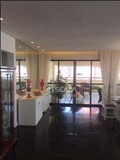 cobertura com 4 dormitórios à venda, 306 m² por r$ 920.000,00 - meireles - fortaleza/ce - co0046