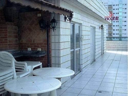 cobertura com 4 dormitórios à venda, 318 m² por r$ 500.000,00 - aviação - praia grande/sp - co0007