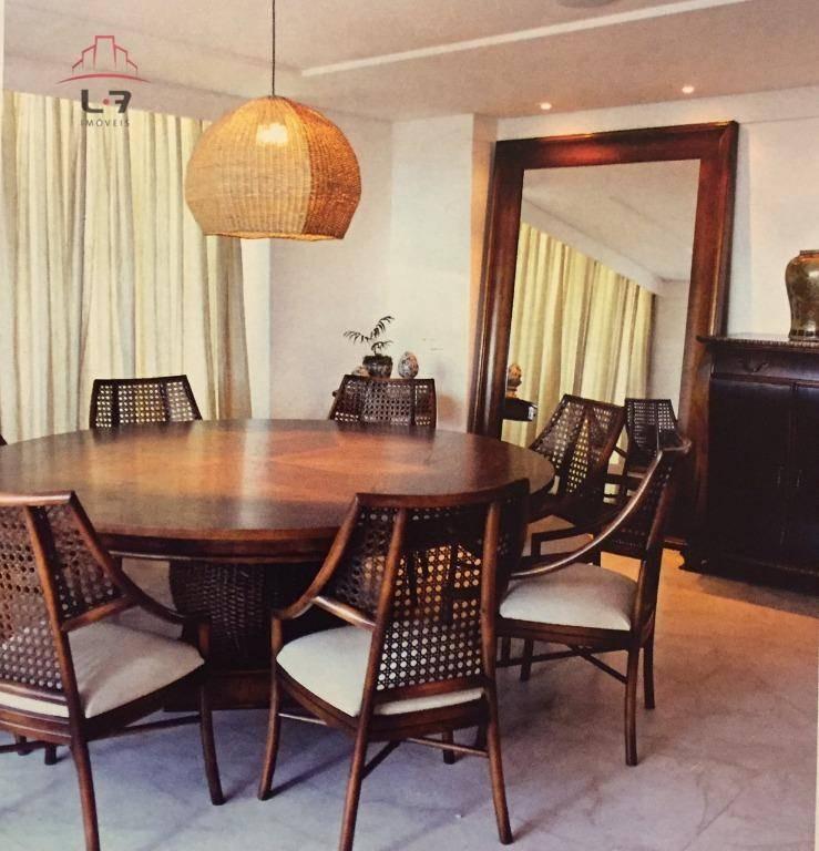 cobertura com 4 dormitórios à venda, 399 m² por r$ 2.800.000 - areia preta - natal/rn - co0031