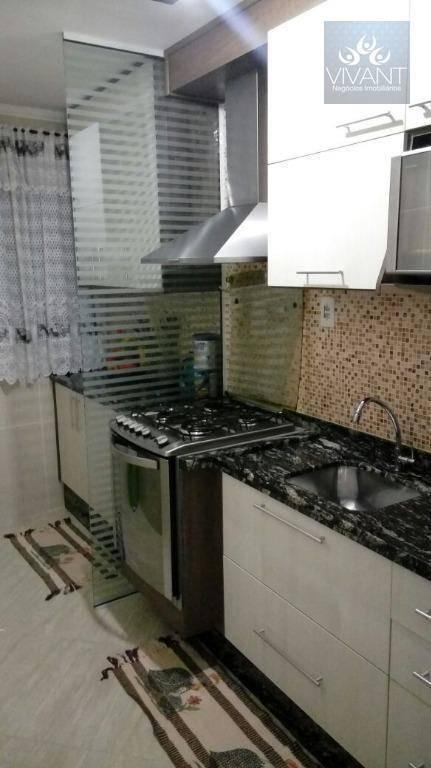 cobertura com área de churrasqueira coberta à venda, 105 m² por r$ 290.000 - jardim são luís - suzano/sp - ap0149