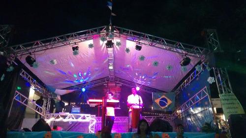 cobertura de alumínio palco com 7x5m. tenda box grid q25 q30