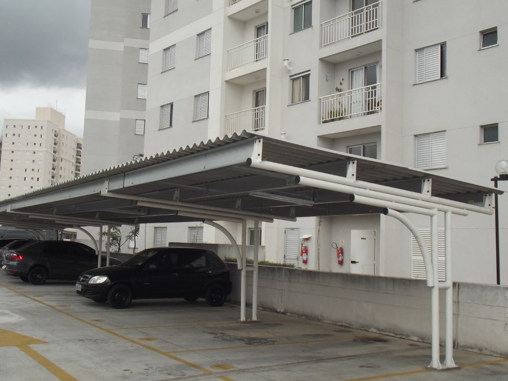 Cobertura De Garagem Estacionamento Condominio R 12 00