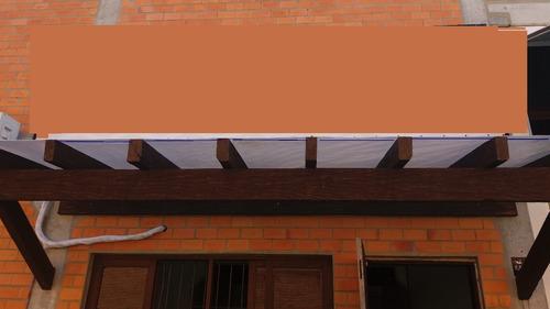 cobertura de pergolado translucida  5,70 x 3