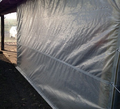 cobertura de pergolado translucida resistente -  5x6