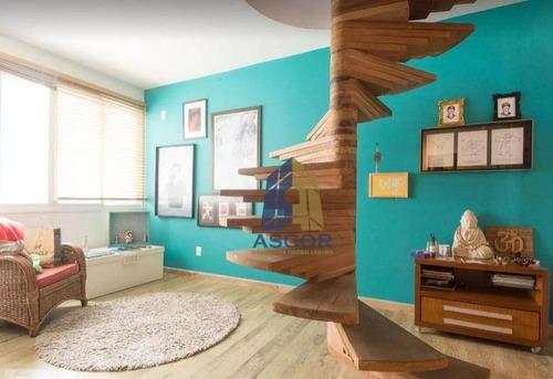 cobertura disponível para alugar no centro de florianópolis por r$ 4.800/mês - centro - florianópolis/sc - co0295