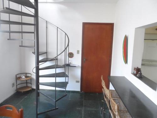 cobertura duplex 2 dormitórios com churrasqueira - astúrias - guarujá - co0110