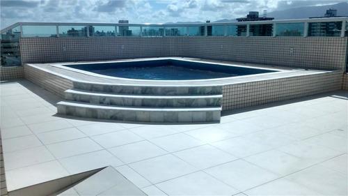 cobertura duplex 3 quartos com piscina, cidade ocian, praia grande. - co0002