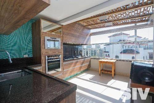cobertura duplex 4 dormitórios, módulo 4 - riviera de são lourenço - co0168