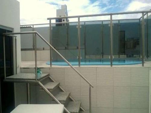 cobertura duplex 4 quartos sendo 2 suítes 283m2 no costa azul - anr078 - 4496942
