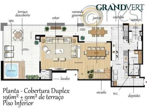 cobertura duplex 4 suítes, juvevê, curitiba. - co0009