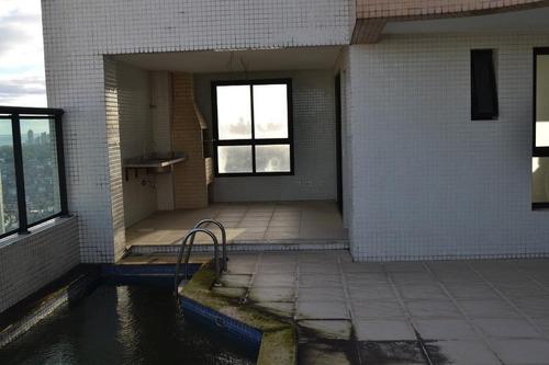 cobertura duplex, 4 suítes, venda, vista mar  - horto florestal - co0025