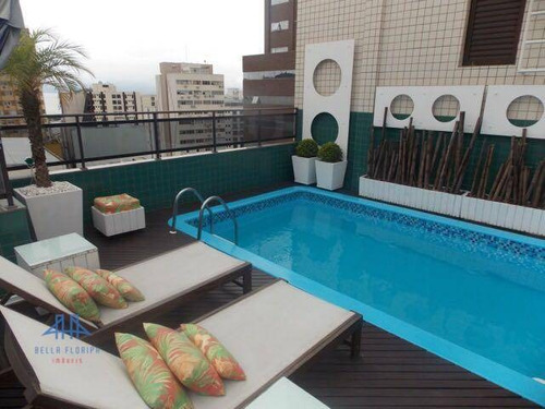 cobertura duplex com 3 dormitórios para alugar, 200 m² por r$ 10.000/mês - centro - florianópolis/sc - ad0022