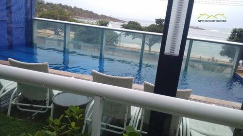 cobertura duplex cool, com piscina aquecida na praia da costa! - co0171