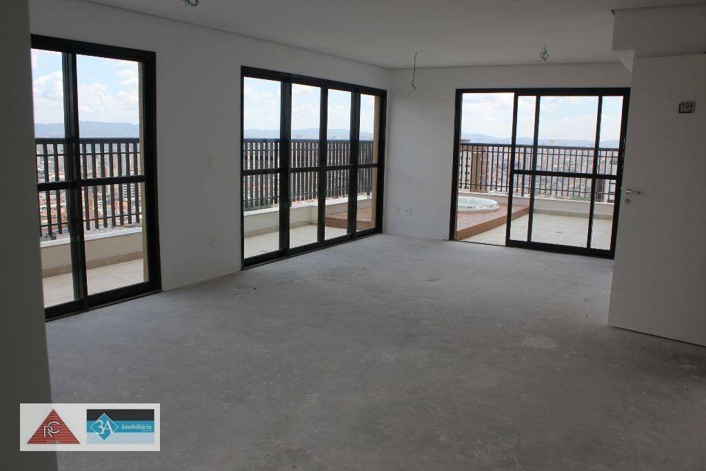cobertura duplex na vila carrão, recém entregue e no contra piso. são 178 m com 3 suítes, sendo uma master com sacada, ampla sala, sacada gourmet, lav - co0284