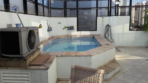 cobertura em jardim anália franco, são paulo/sp de 140m² 2 quartos à venda por r$ 900.000,00 - co91684