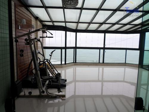 cobertura em praia grande, vista mar, 05 dormitórios sendo 04 suítes, lazer completo na aviação co0023 - co0023