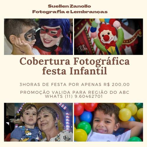cobertura fotográfica festa infantil