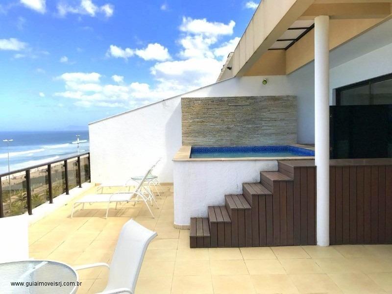 cobertura frontal mar - praia 10 - 33576475