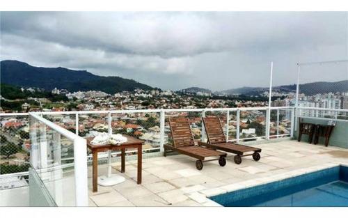 cobertura mobiliada com piscina privativa em prédio de luxo pronta para morar!
