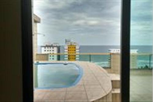 cobertura na praia, com piscina, 4 dormitório ref: c4957