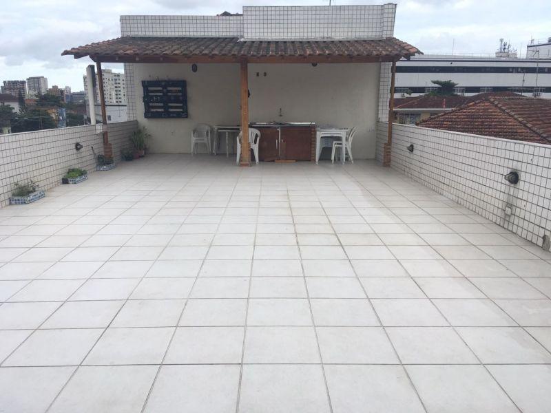 cobertura na vila belmiro em prédio de 3 andares ! - 836