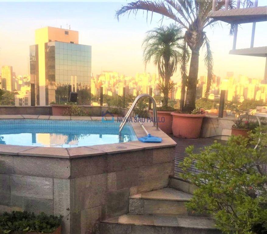 cobertura no miolo do itaim bibi, 280m², 4 dormitórios, 5 wc, piscina, lareira e horta  privativa - bi26435