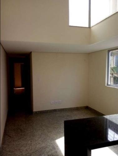 cobertura nova com 2 quartos no bairro serra. - 1200
