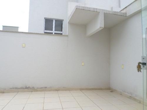 cobertura nova com 3 quartos no bairro santa tereza. - 1453