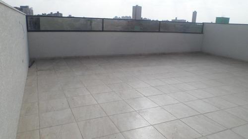 cobertura nova sem condomínio 169m², 3 dorms, 1 suite, 2 vagas campestre, santo andré. - co0197