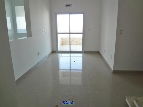 cobertura para venda em praia grande, ocian, 3 dormitórios, 1 suíte, 2 banheiros, 3 vagas - ap00037
