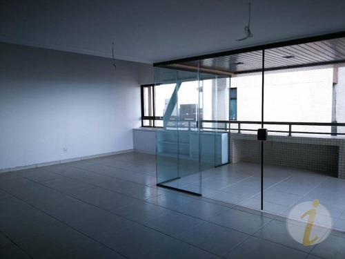 cobertura residencial para locação, intermares, cabedelo. - co0075