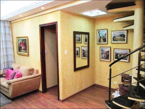 cobertura residencial para locação, vila belmiro, santos - co0033. - co0033