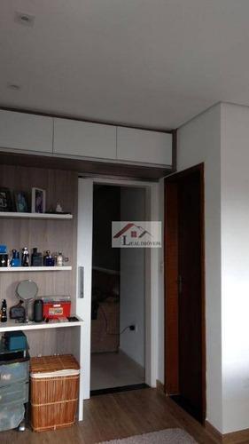 cobertura residencial para locação, vila camilópolis, santo andré - co0031. - co0031