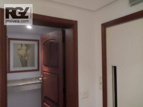 cobertura  residencial para venda e locação, aparecida, santos. - co0114
