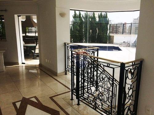 cobertura residencial para venda e locação, campo belo, são paulo - co0002. - co0002
