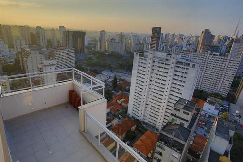 cobertura residencial para venda e locação, vila mariana, são paulo - co0087. - co0087