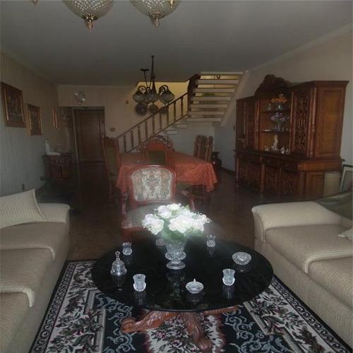 cobertura residencial à venda, aparecida, santos - co0057.
