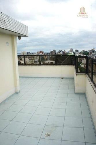 cobertura residencial à venda, auxiliadora, porto alegre - co0166. - co0166