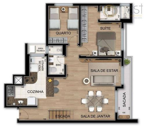 cobertura residencial à venda, cabral, curitiba - co0066. - co0066