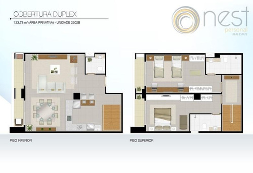 cobertura residencial à venda, centro, curitiba. - co0086