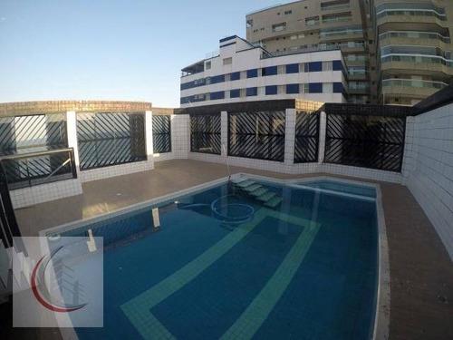cobertura residencial à venda, cidade ocian, praia grande - co0037. - co0037